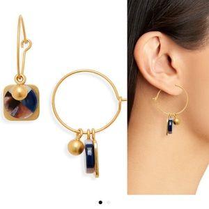 Madewell MixMatch Colorblock Acetate Hoop Earrings